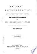 Faltas subsanables e insubsanables de los documentos publicos sujetos a registro en forma de diccionario