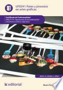 Fases y procesos en artes gráficas. ARGC0110