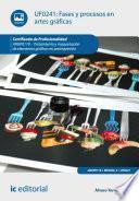 Fases y procesos en artes gráficas. ARGP0110