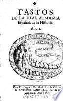 Fastos de la Real Academia Española de la Historia