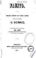Fausto drama lírico en cinco actos música del maestro C. Gounod