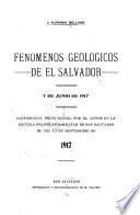 ... Fenómenos geológicos de El Salvador, 7 de junio de 1917