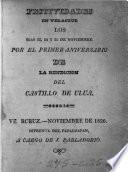Festividades en Veracruz los dias 23, 24, y 25 de noviembre por el primer aniversario de la rendicion del castillo de Ulua