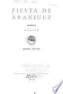 Fiesta de Aranjuez en honor de Azorín