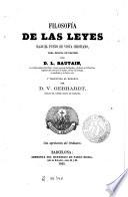Filosofía de las leyes bajo el punto de vista cristiano