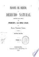 Filosofía del derecho ó derecho natural