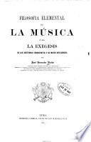 Filosofia elemental de la música