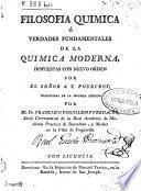 Filosofía química o Verdades fundamentales de la química moderna
