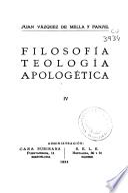 Filosofía, teología, apologética