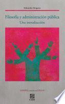 Filosofía y administración pública