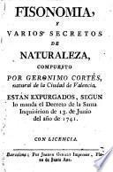 Fisonomia y varios secretos de naturaleza