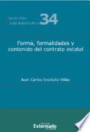 Forma, formalidades y contenido del contrato estatal