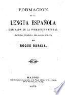 Formación de la lengua española
