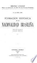 Formación histórica de la nacionalidad brasileña