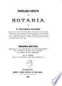 Formulario completo de notaria