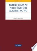 Formularios de procedimiento administrativo (e-book)