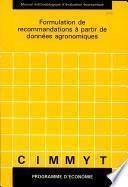 Formulation de recommendations a partir de donnes agronomiques