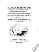 Franc. Perezii Bayerii,... Numorum hebraeo-samaritanorum vindiciae