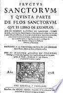 Fructus sanctorum y quinta parte de Flos sanctorum que es libro de exemplos