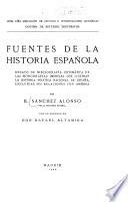 Fuentes de la historia española