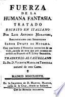 Fuerza de la humana fantasia, tratado escrito en italiano