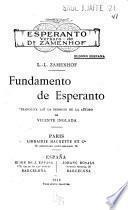 Fundamento de esperanto