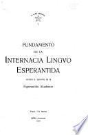 Fundamento de la internacia lingvo Esperantida, revizita k. aprovita da la Esperantida Akademio