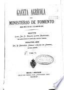 Gaceta Agricola del Ministerio de Fomento