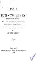 Gaceta de Buenos Aires desde 1810 hasta 1821
