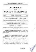 Gaceta de los museos nacionales