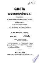 Gaceta homeopática