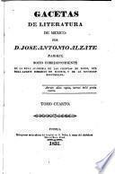 Gacetas de literatura de Mexico