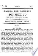 Gazeta del gobierno de México