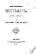 Generosidad Musulmana, leyenda original [in verse].