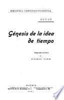 Génesis de la idea de tiempo