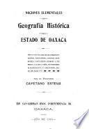 Geografía histórica del estado de Oaxaca