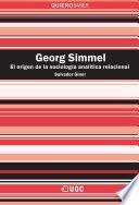 Georg Simmel. La fundación de la sociología analítica
