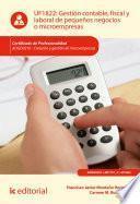 Gestión contable, fiscal y laboral de pequeños negocios o microempresas. ADGD0210