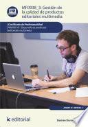 Gestión de la calidad de productos editoriales multimedia. ARGN0110