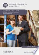 Gestión de proveedores. COML0210