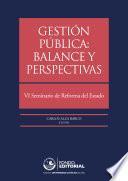 Gestión pública: balance y perspectivas