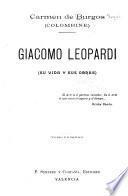 Giacomo Leopardi (su vida y sus obras)