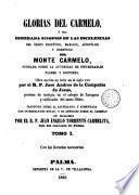 Glorias del Carmelo a sea esmerada sinopsis de las escelencias del orden profético del Monte Carmelo..., 1