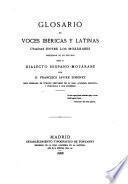 Glosario de voces ibericas y latinas usadas entre los mozarabes