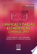 Gráficas y tablas estadísticas con excel 2013