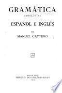 Gramática (analogía) español e inglés