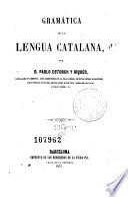 Gramática de la lengua catalana