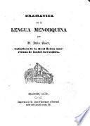 Gramática de la lengua menorquina