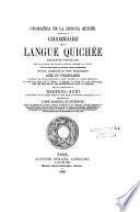 Gramatica de la lengua quiche