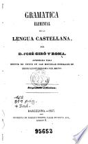 Gramatica elemental de la lengua castellana